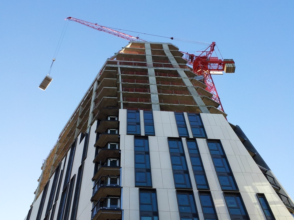 More building work; this time right opposite our offices in Black Prince Road