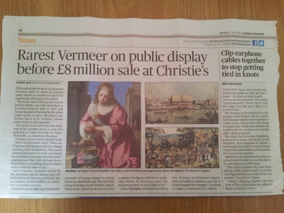 The Evening Standard's art editor reveals some innter trauma?