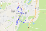 Map my Run four mile map, Winchester
