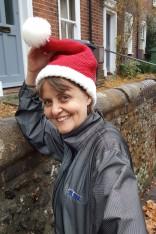 Festive running hat for #adventrunning