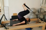Roll over on reformer @WinchesterPilates