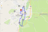 Map my Run six mile route Winchester