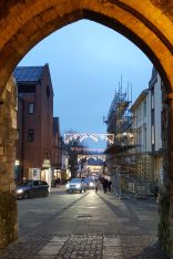 Winchester High Street with Christmas lights 2016